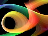 multicolored abstraction over black high quality rendered image poster