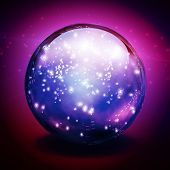 Crystal Ball with lights poster