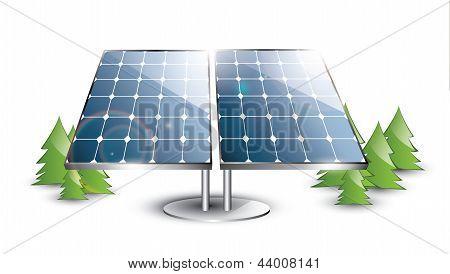 Solar panel set