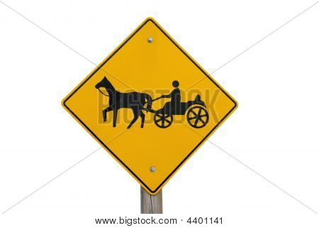 Horse And Buggy Caution Sign