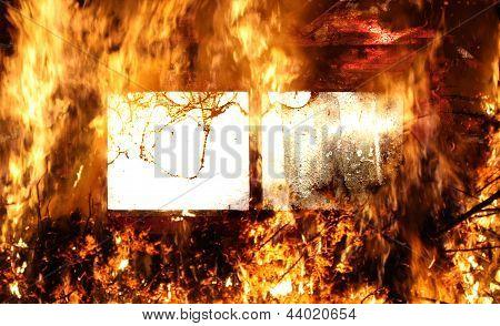 Window In Flames