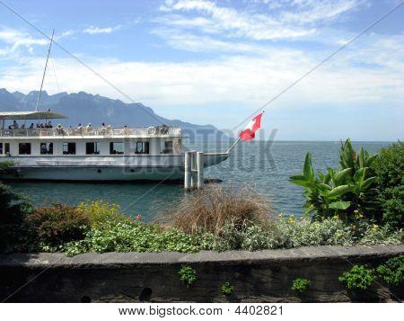 The Embankment In Montre. Switzerland.