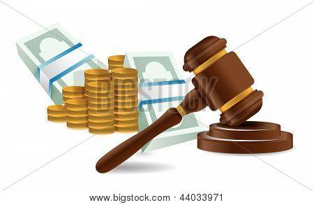 Law Representation Costs Concept