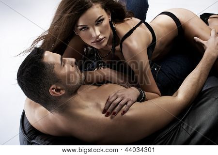 Passionate young lovers
