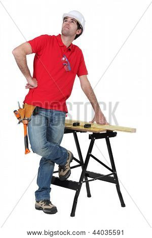 Cabinetmaker staring at the ceiling