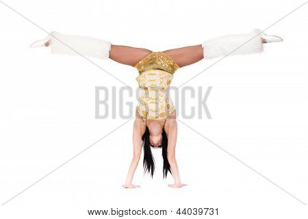 young athlete woman doing stretching exercise