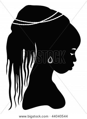 black silhouette African woman