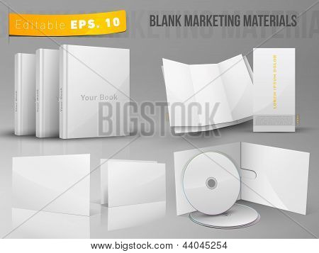 Blank office marketing materials