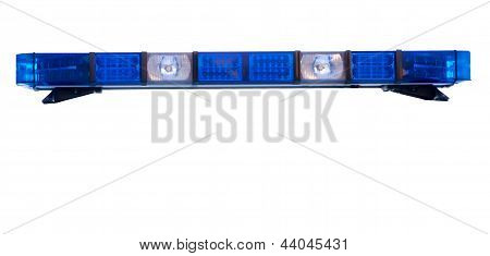 Isolated Police Emergency Light Roof Bar