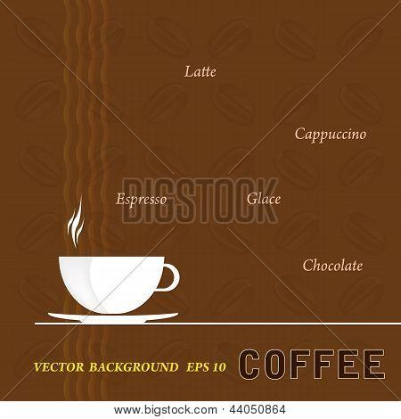 Coffee background.Restaurant business card