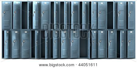 School Lockers Ransacked Front