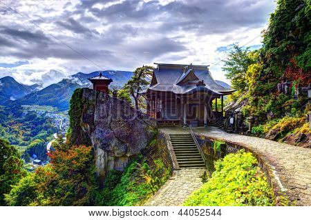 Yamadera is a mountain temple october 29