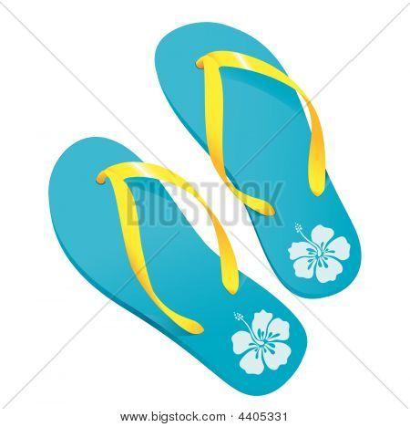 Turquoise Flipflops