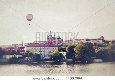 Prague Photo in vintage style.
