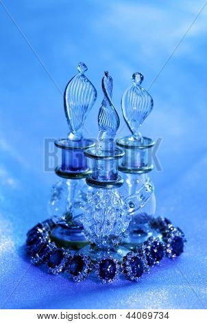 Golden Jewelry Accessories  And Glass
