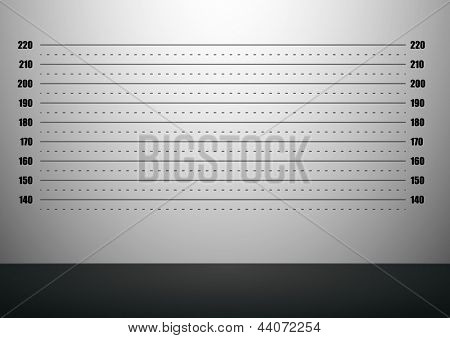 detailed illustration of a mugshot background with metric scales, eps10 vector