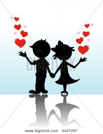 Valentine Silhouette Couple