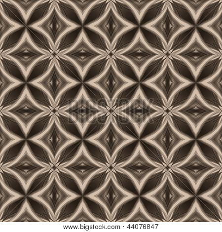 Vintage White Black Oriental Kaleidoscope Background With Circles