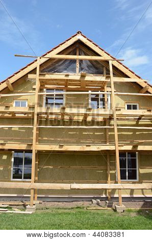 New Wooden Rural House Thermal Insulation With Rockwool