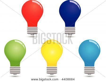 Set Of Colorful Bulbs