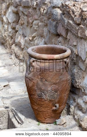 Minoan Storage Jar At Knossos.
