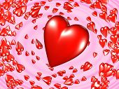 3d hearts vortex concept poster