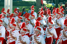 Nebraska Marching Band In Gator Bowl Parade