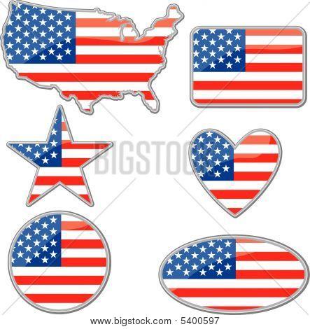 USA placards