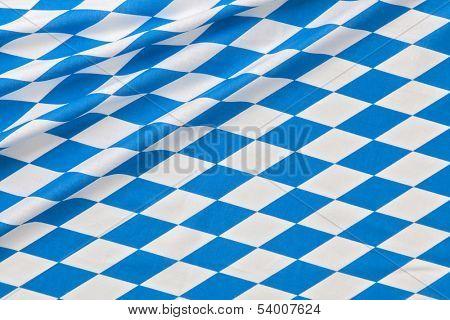 Oktoberfest blue checkered fabric background