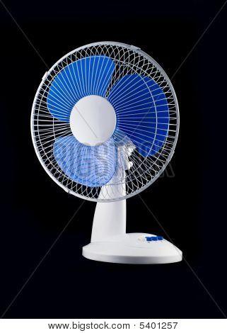 Modern Desk Cooling Fan Over Black