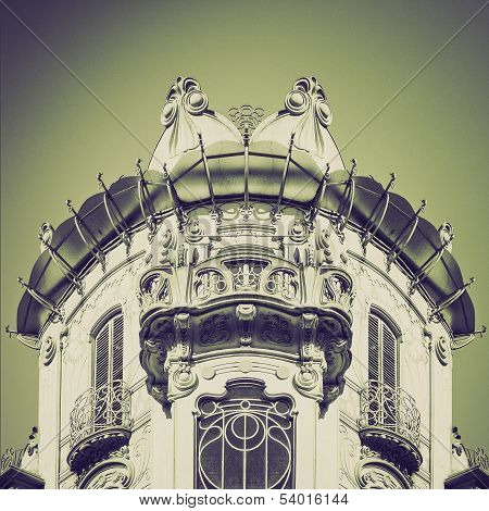 Vintage Sepia Casa Fleur, Turin