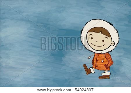 Winter Boy Copy Space