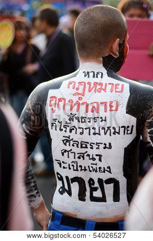 Bangkok - November 11, 2013 : Anti-government Protesters At The Democracy Monument On November 11