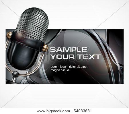 Microphone On Black