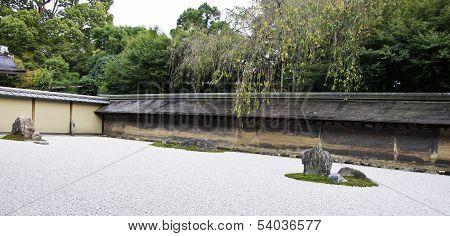 Ryoan-ji Temple In Kyoto, Japan.
