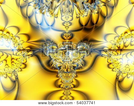 Gold brilliant abstract picture