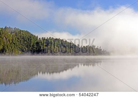 Fog And Reflections In Canoe Country