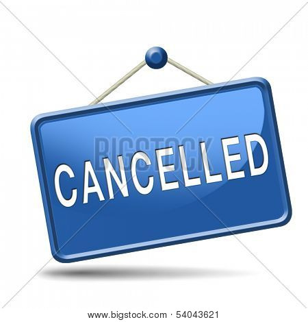 Cancelled music concert gig or performance event