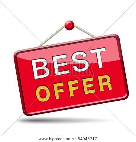 best offer lowest price and best value for the money web shop icon or online promotion button, sticker or sign for internet webshop