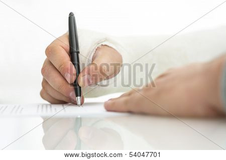 Signing Work Injury Claim