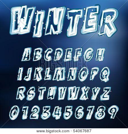 Vector Icy Alphabet
