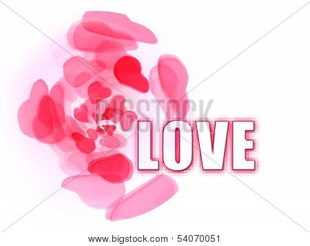 Love With Petal Hearts