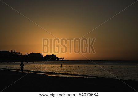 Sunset on Brace Bay Beach