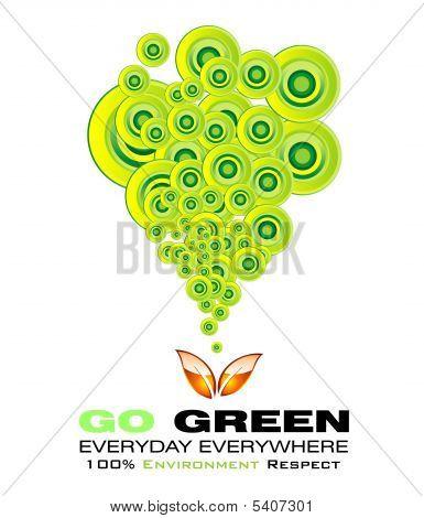 Go grünen Karte mit hohem Kontrast-Farben