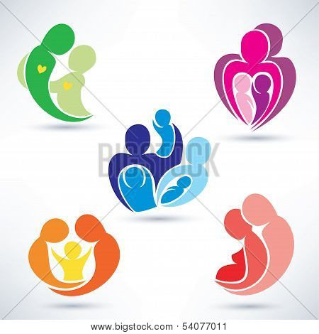 Abstract Family Icons Set