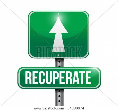 Recuperate Road Sign Illustration Design
