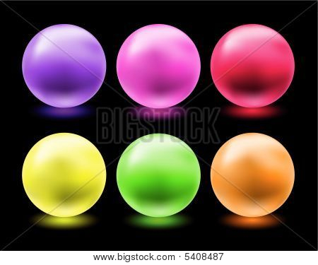 Glowing Glass Spheres