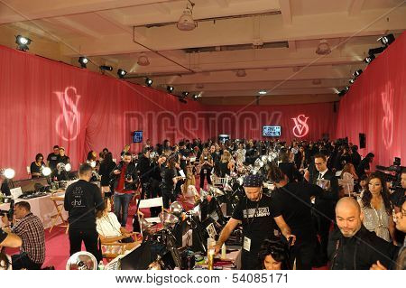 NEW YORK NY - NOVEMBER 13: A view of atmosphere at the 2013 Victoria's Secret Fashion Show
