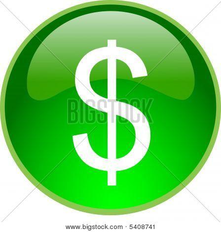 Green Dollar Button