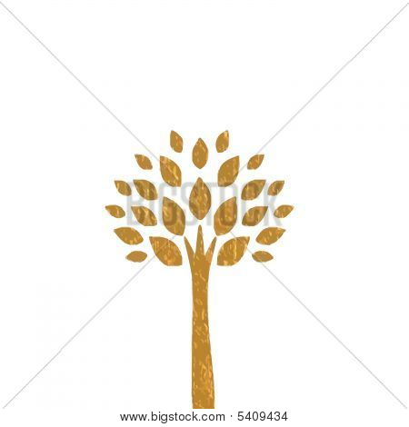 Gold Tree Background